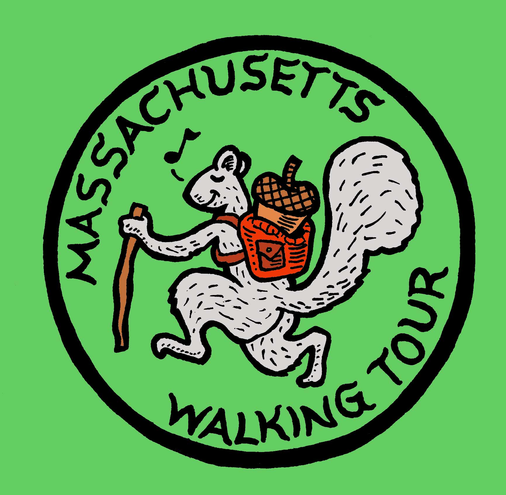 massachusetts walking tour logo